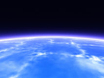 Horizon. Earth from Space. 3D rendered Horizon line royalty free illustration