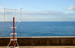 Horizon. At the seaside with guard Stock Photo