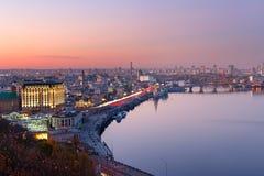 Horizon aérien de Kiev, Ukraine images libres de droits