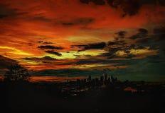 Horizon abstrait de Seattle images stock
