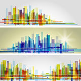 Horizon abstrait de ville illustration de vecteur