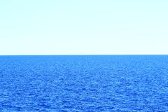 Horizon on the sea. Horizon, Adriatic sea in Croatia Royalty Free Stock Images