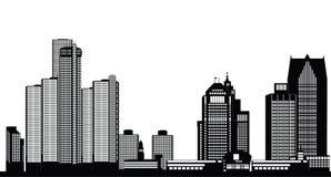 Horizon américain de ville de Detroit illustration de vecteur