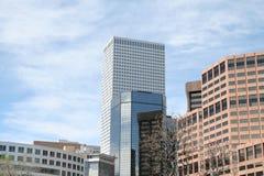 Horizon architectural de Denver Photographie stock libre de droits