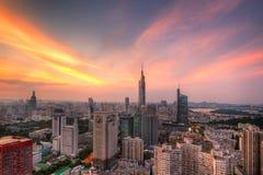 Horizon au coucher du soleil Photographie stock libre de droits