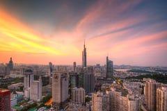 Horizon au coucher du soleil Images libres de droits