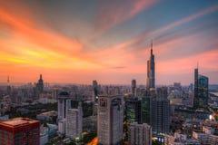 Horizon au coucher du soleil Photos libres de droits