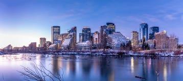 Horizon au lever de soleil, Calgary, Alberta images stock