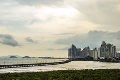 Horizon au Panama Images libres de droits