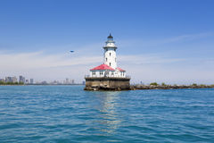 Horizon avec le phare Photo libre de droits