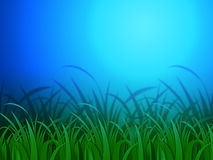 Horizon Background Means Clear Lawn And Environment Stock Photography
