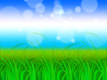 Horizon Background Shows Fresh And Natural Scenery Royalty Free Stock Image