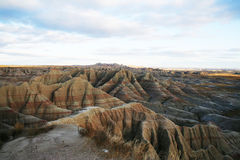 Horizon of the Badlands moutain. With the depth and powerful cliff overlap stock photos