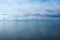 Horizon in baltic sea Royalty Free Stock Photo