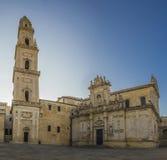 Horizon basilic baroque de lecce Image libre de droits
