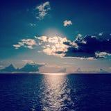 Horizon. A beautiful sun under the clouds Stock Photo