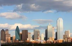 Horizon binnen de stad in van Dallas royalty-vrije stock afbeeldingen