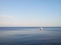 Horizon blauwe kalme overzees Stock Fotografie