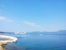Horizon blauwe kalme overzees Royalty-vrije Stock Foto's