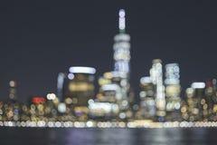 Horizon brouillé de New York City, Etats-Unis images libres de droits