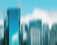 Horizon brouillé de ville Image libre de droits