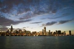 Horizon célèbre de Chicago Images libres de droits