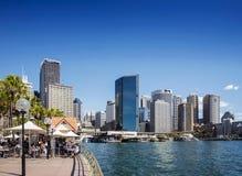 Horizon central de secteur de Sydney CBD et quai circulaire dans l'Australie Image libre de droits