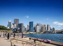 Horizon central de secteur de Sydney CBD et quai circulaire dans l'Australie Photographie stock