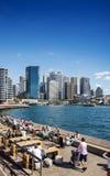 Horizon central de secteur de Sydney CBD et quai circulaire dans l'Australie Images libres de droits
