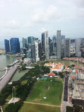horizon central de Singapour de district d'affaires Photo libre de droits