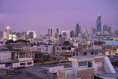 Horizon chaotique de Bangkok Images libres de droits