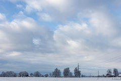Horizon. Clouds in the  blue sky,winter Royalty Free Stock Photos