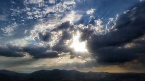 Horizon & Clouds. Great photo taken in Mexico City royalty free stock photos
