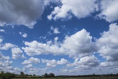 Horizon of clouds Royalty Free Stock Photos
