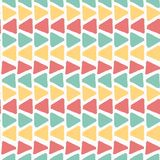Horizon colourful summer vintage grunge geometric triangle pattern seamless background. Stroke royalty free illustration
