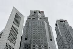 Horizon d'édifices bancaires Photos libres de droits