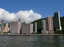 Horizon d'île de Hong Kong Photos stock