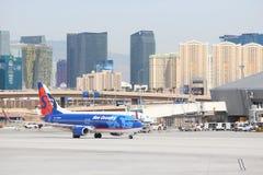 Horizon d'aéroport de Las Vegas Image libre de droits