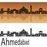 Horizon d'Ahmedabad dans l'orange Illustration Stock