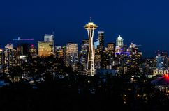 Horizon d'aiguille et de Seattle de l'espace photos libres de droits