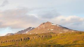 Horizon d'Akureyri Photo stock