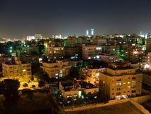 Horizon d'Amman la nuit Image libre de droits