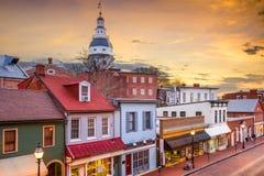 Horizon d'Annapolis Images libres de droits