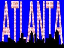 Horizon d'Atlanta Images libres de droits