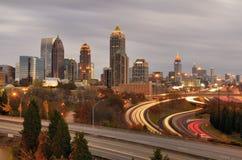 Horizon d'Atlanta Photographie stock libre de droits