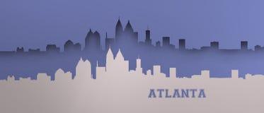 Horizon d'Atlanta de technologie au-dessus de bleuâtre frais illustration stock