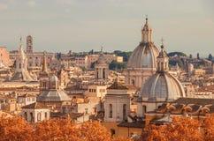 Horizon d'automne de Rome images libres de droits