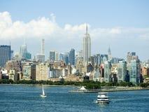 Horizon d'Empire State Building et de New York Photographie stock
