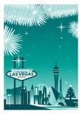 Horizon d'hiver de Las Vegas illustration stock