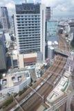 Horizon d'Osaka City images libres de droits